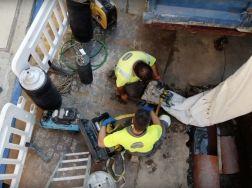 Rehabilitación de tuberías en la calle Alejandro Pedrosa (Ourense)